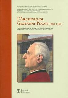Antondemarirreguera.es L' archivio di Giovanni Poggi (1880-1961). Soprintendente alle gallerie fiorentine Image