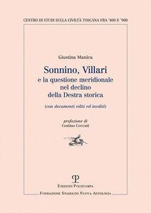 Sonnino, Villari e la questione meridionale nel declino della destra storica