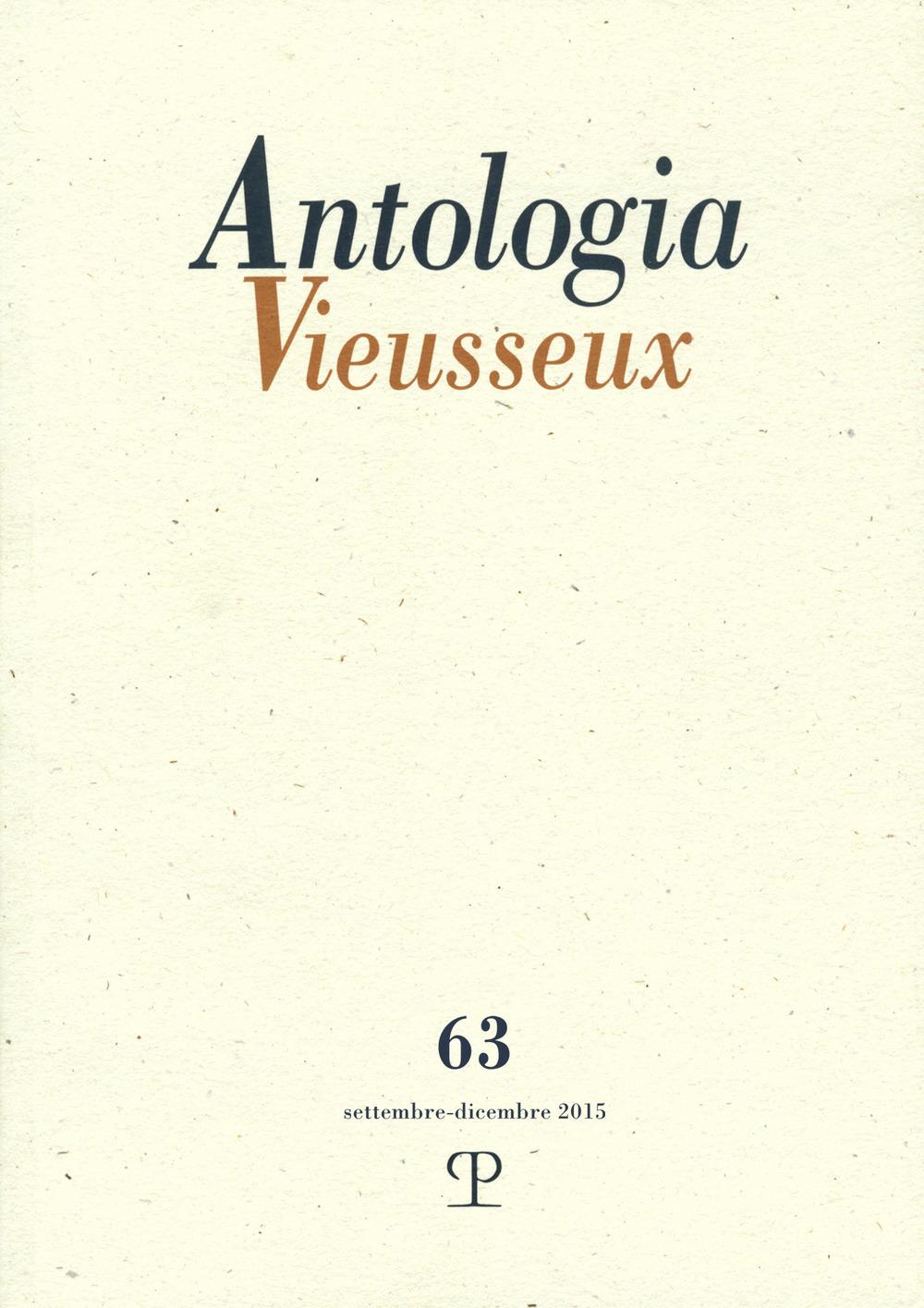 Image of Antologia Vieusseux (2015). Vol. 63