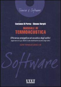 Manuale di termoacustica. Con CD-ROM