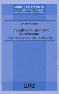 Libro Il procedimento sommario di cognizione Michele Cataldi