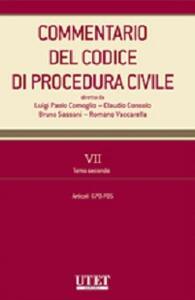 Commentario del codice di procedurre civile. Vol. 7\2: Artt. 670-705.