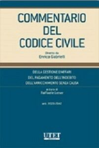 Commentario del codice civile. Della gestione d'affari, del pagamento dell'indebito, dell'arricchimento senza causa (Artt. 2028-2042)