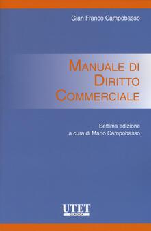 Capturtokyoedition.it Manuale di diritto commerciale Image