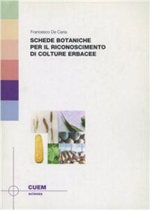 Schede botaniche per il riconoscimento di culture erbacee