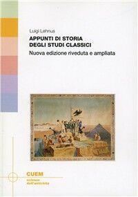 Appunti di storia degli studi classici