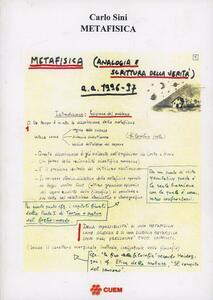 Metafisica: analogia e scrittura della verità. Lezioni universitarie