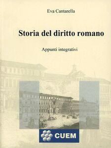 Libro Storia del diritto romano Eva Cantarella