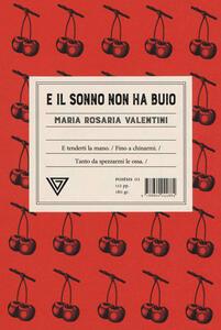 Il sonno non ha buio - Maria Rosaria Valentini - copertina