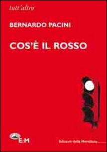 Foto Cover di Cos'è il rosso, Libro di Bernardo Pacini, edito da Edizioni della Meridiana