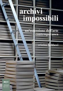 Promoartpalermo.it Archivi impossibili. Un'ossessione dell'arte contemporanea Image