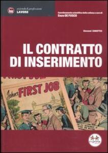 Il contratto di inserimento - Giovanni Zamatteo - copertina