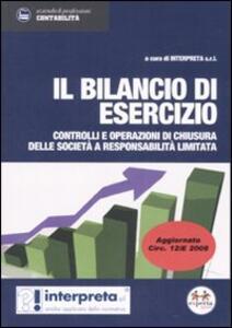 Il bilancio di esercizio. Controlli e operazioni delle società a responsabilità limitata - copertina