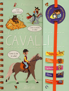 Winniearcher.com I cavalli. Piccoli curiosi. Con adesivi. Ediz. a colori. Ediz. a spirale Image