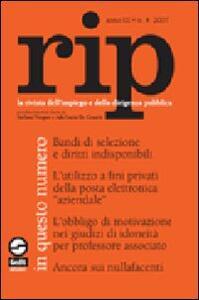 RIP. La rivista dell'impiego e della dirigenza pubblica