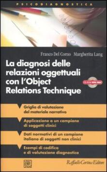 Voluntariadobaleares2014.es La diagnosi delle relazioni oggettuali con l'Object Relations Technique (ORT). Griglia di valutazione clinica con i dati di un campione italiano... Con CD-ROM Image