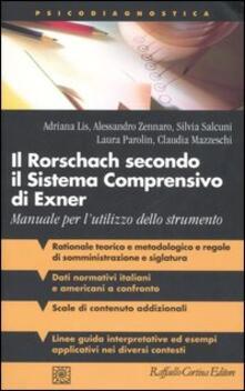 Il Rorschach secondo il Sistema Comprensivo di Exner. Manuale per l'utilizzo dello strumento - copertina