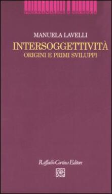 Premioquesti.it Intersoggettività. Origini e primi sviluppi Image