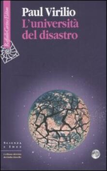 L' università del disastro - Paul Virilio - copertina
