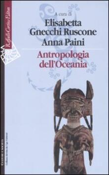 Antropologia dell'Oceania - copertina
