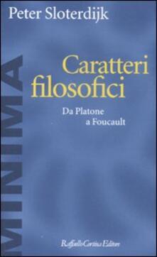 Filmarelalterita.it Caratteri filosofici. Da Platone a Foucault Image