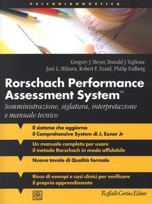 Ilmeglio-delweb.it Rorschach performance assessment system. Somministrazione, siglatura, interpretazione e manuale tecnico Image