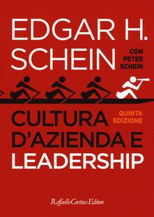 Cultura d'azienda e leadership - Edgar H. Schein - copertina