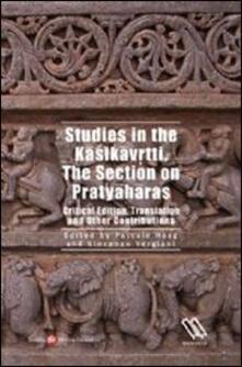 Studies in the Kasikavrtti. The section on Pratyaharass - copertina