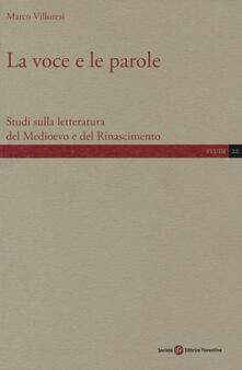 Criticalwinenotav.it La voce e le parole. Studi sulla letteratura del Medioevo e del Rinascimento Image
