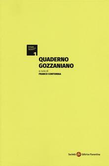 Quaderno gozzaniano - copertina