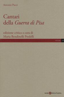 Cantari della Guerra di Pisa - Antonio Pucci - copertina