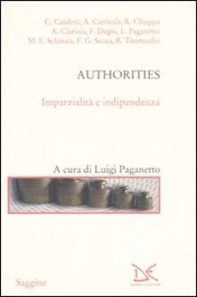 Authorities. Imparzialità e indipendenza - copertina
