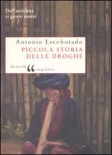 Piccola storia delle droghe. Dall'antichità ai giorni nostri - Antonio Escohotado - copertina