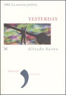 Yesterday - Alfredo Saitto - copertina