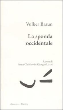 Sponda occidentale - Volker Braun - copertina