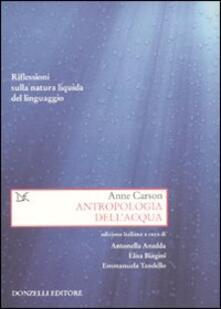 Festivalpatudocanario.es Antropologia dell'acqua. Riflessioni sulla natura liquida del linguaggio Image