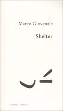 Shelter - Marco Giovenale - copertina