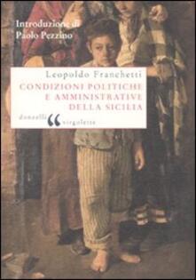 Condizioni politiche e amministrative della Sicilia - Leopoldo Franchetti - copertina