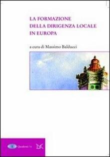 La formazione della dirigenza locale in Europa - copertina
