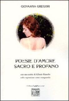 Poesie d'amore sacro e profano - Giovanna Gregori - copertina