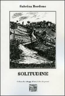 Solitudine - Sabrina Bordone - copertina