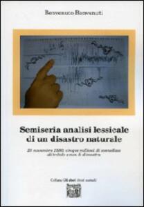 Semiseria analisi lessicale di un disastro naturale