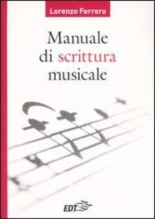 manuale di editoria musicale