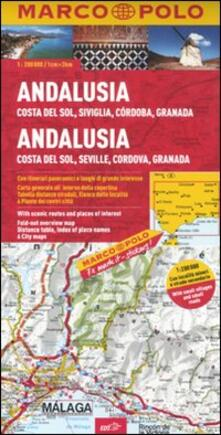 Promoartpalermo.it Andalusia, Costa del sole, Siviglia, Cordoba, Granada 1:200.000. Ediz. multilingue Image