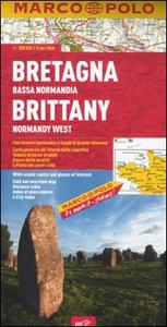 Libro Bretagna, Bassa Normandia. 1:300.000. Ediz. multilingue