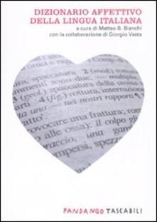 Dizionario affettivo della lingua italiana - copertina