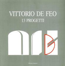 Vittorio De Feo. 13 progetti.pdf