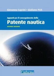 Capturtokyoedition.it Patente nautica. Appunti per il conseguimento Image