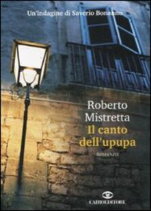 Il canto dell'upupa - Roberto Mistretta - copertina