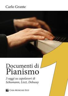 Voluntariadobaleares2014.es Documenti di pianismo. 3 saggi su capolavori di Schumann, Liszt, Debussy Image
